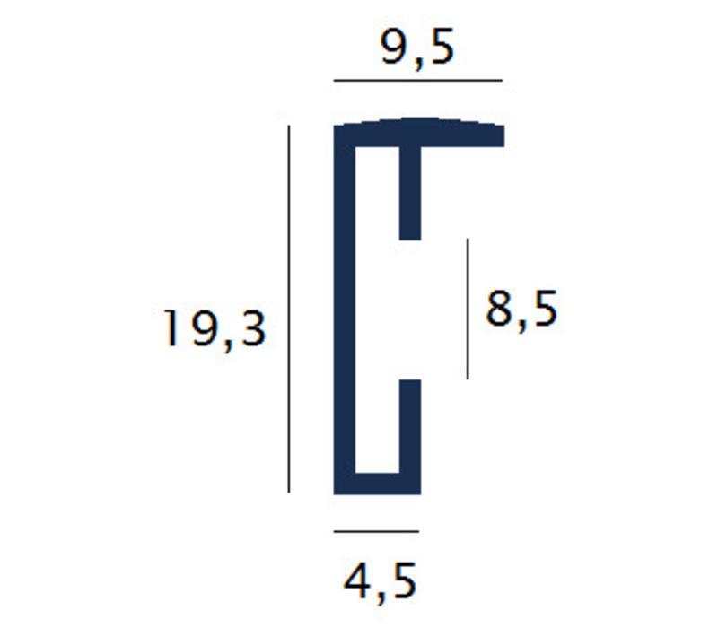 Aluminium lijst wit – 59,4x84cm
