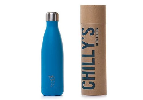 Chilly's Chilly's bottle 500ml neon blue