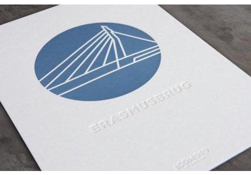 ICON010 Artprint de Erasmusbrug - A4