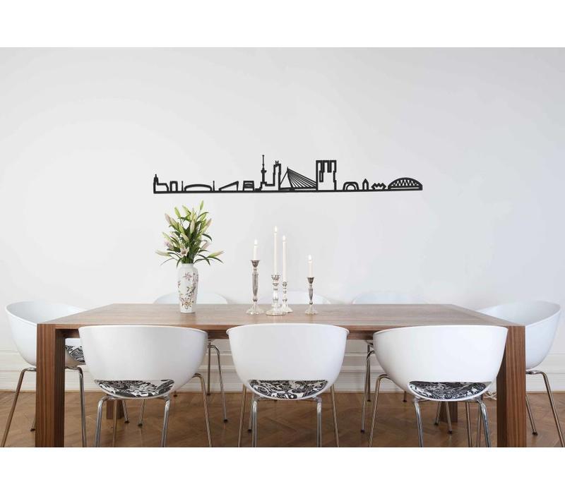 Skyline Rotterdam zwart mdf 130cm