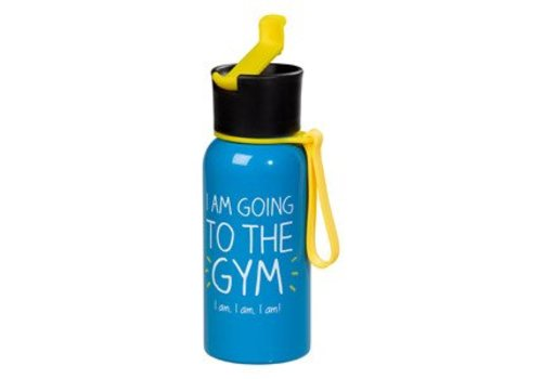 Cortina Water Bottle - I Am Going To The Gym - Waterfles