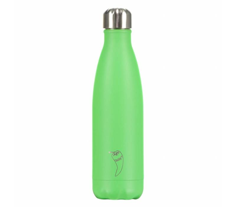 Chilly's waterfles 500ml neon green