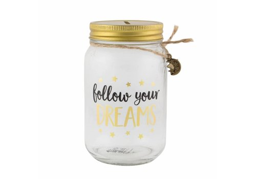 Sass & Belle Follow your dreams jar moneybox