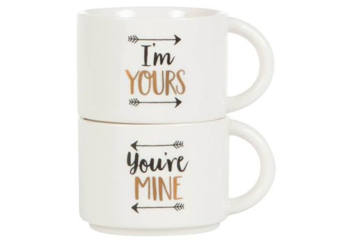 Sass & Belle Set of 2 you're mine & i'm yours mug