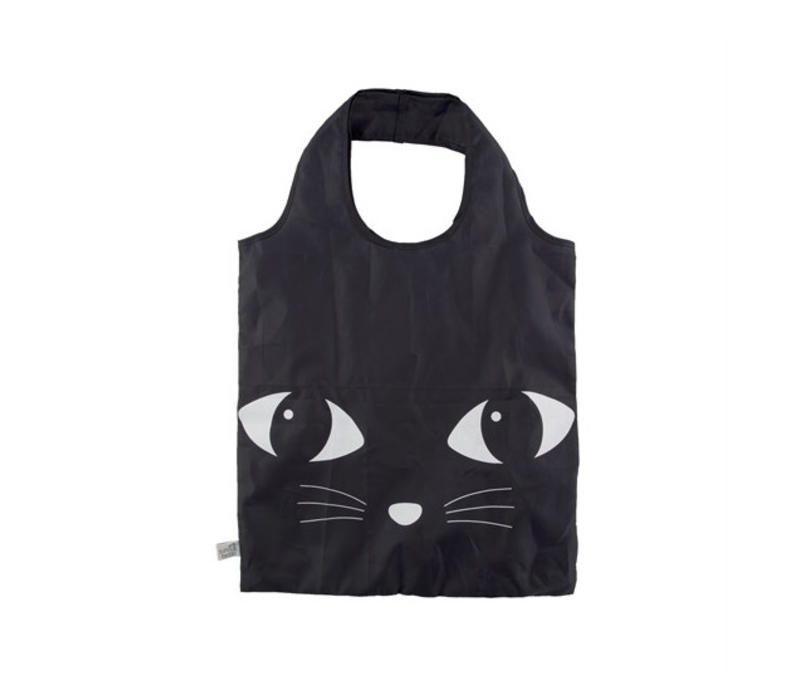 Black Cat Foldable Shopping Bag