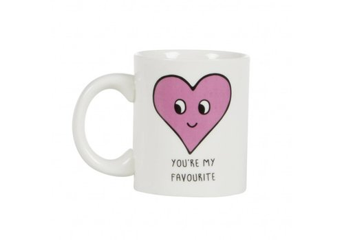 Sass & Belle Patches and pins heart mug