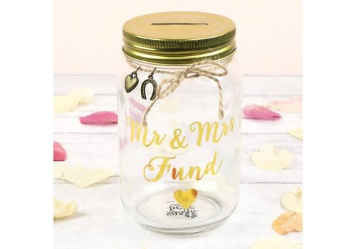 Sass & Belle Mr & MRS fund jar money box