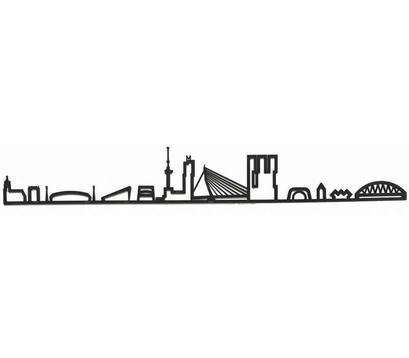 Skyline Rotterdam zwart mdf 170cm