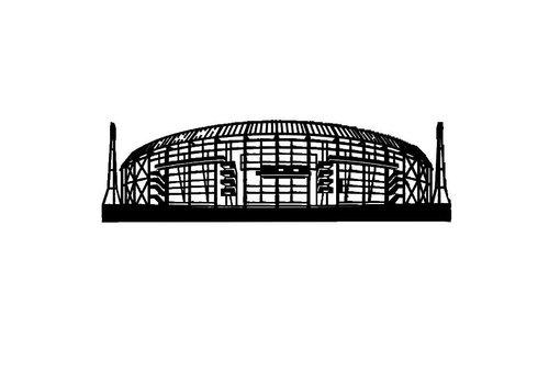 Cityshapes Kuip voorkant 70cm zwart
