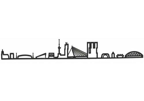 Cityshapes Skyline Rotterdam zwart mdf 170cm