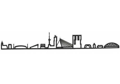 Cityshapes Skyline Rotterdam zwart mdf 90cm