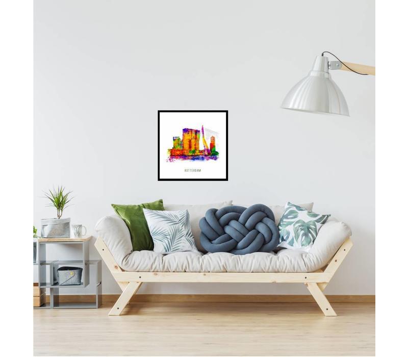 Rotterdam poster | De Rotterdam | Pop art poster | 30x30