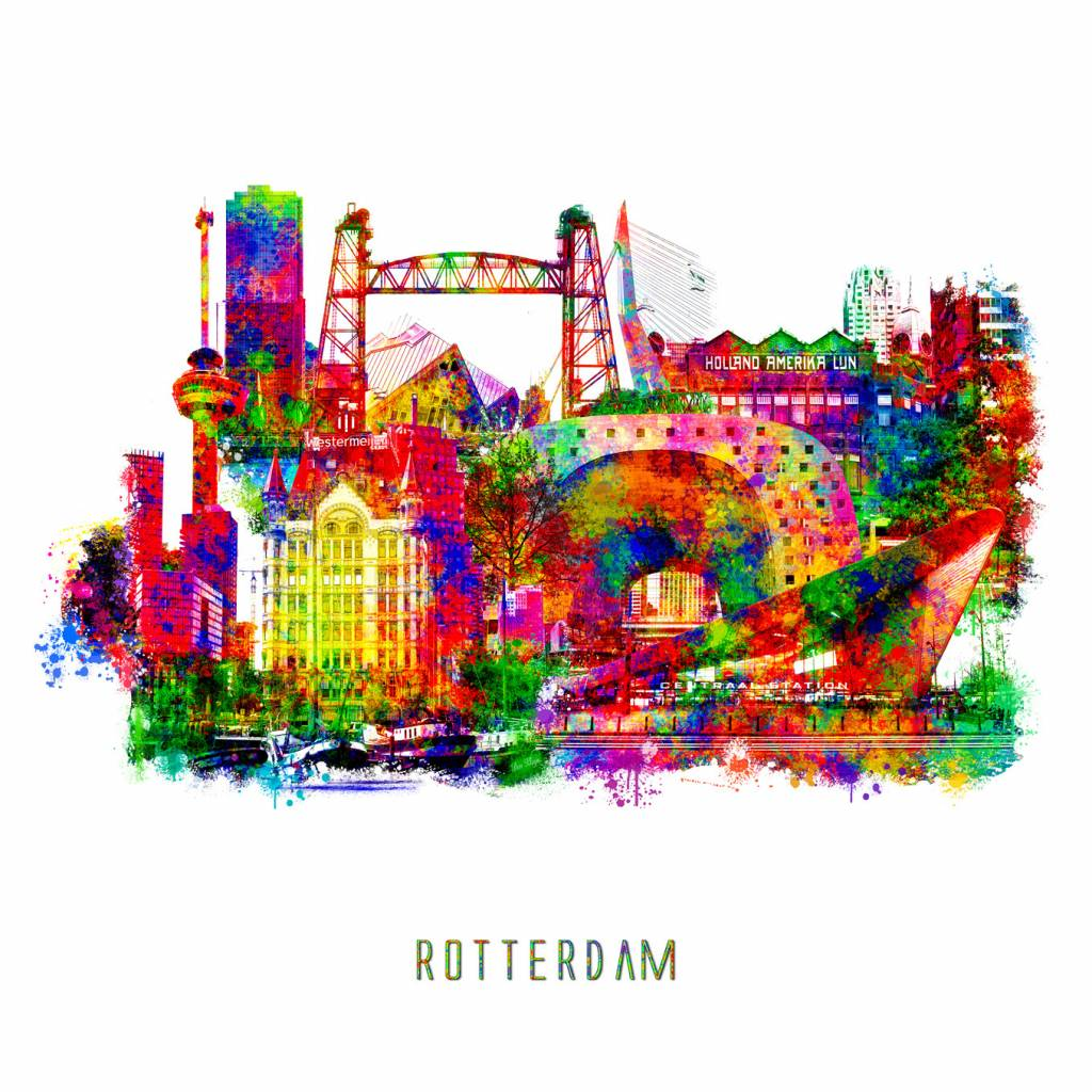 Rotterdam Collage Pop Art Canvas Aluminium Plexiglas Kkec