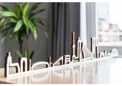 Cityshapes Skyline Rotterdam hout 170cm