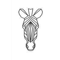 Zebra 40cm zwart mdf