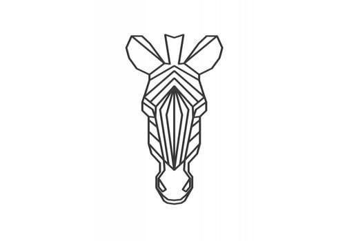 Cityshapes Zebra 40cm - zwart mdf