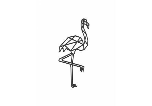 Cityshapes Flamingo 40cm zwart mdf