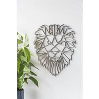 Leeuw 40cm zwart mdf