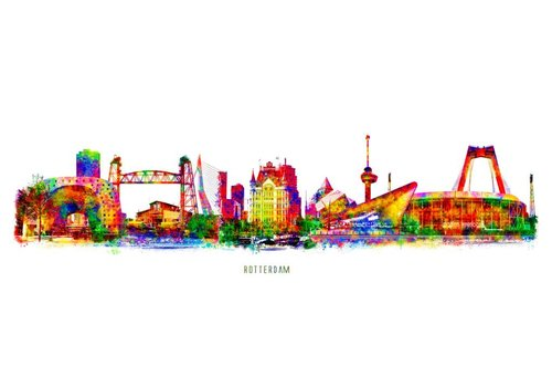 Ben Kleyn Rotterdam skyline Pop Art