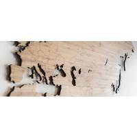 Wereldkaart - Bamboe 160cm