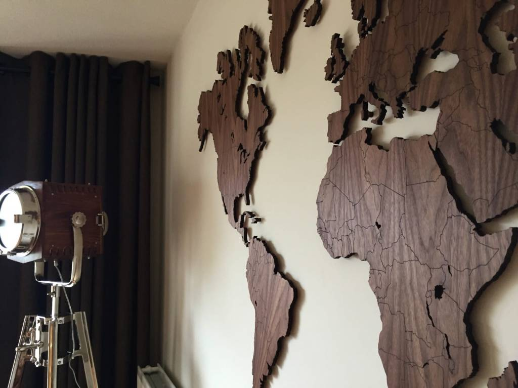 Verrassend Wereldkaart 160cm | Noten hout | Eenvoudig te (de)monteren | - KKEC SE-31