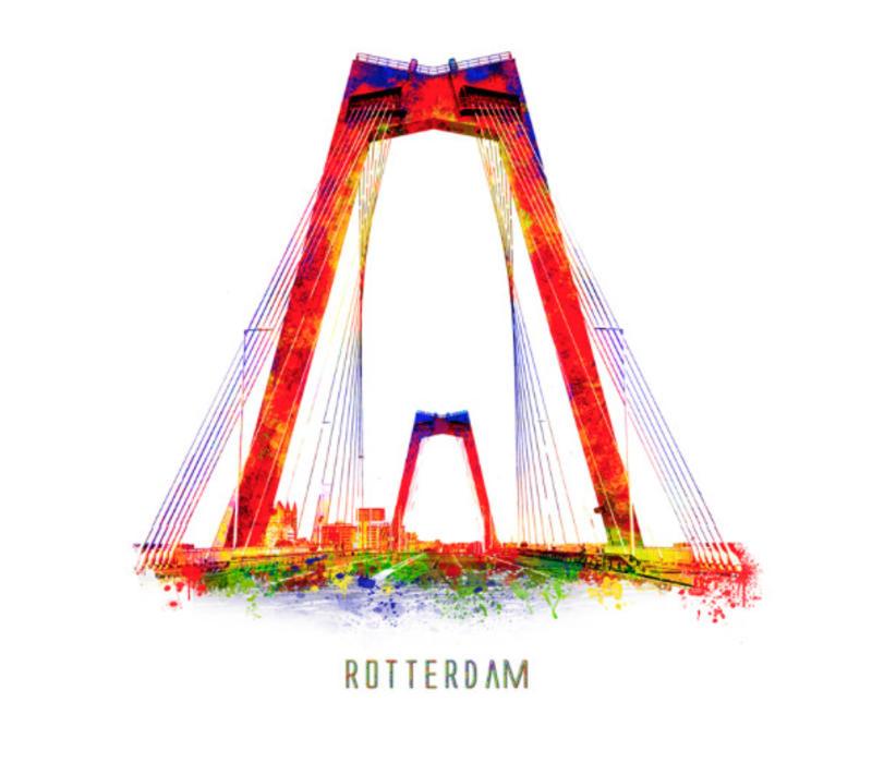 Willemsbrug silhouette – Pop Art