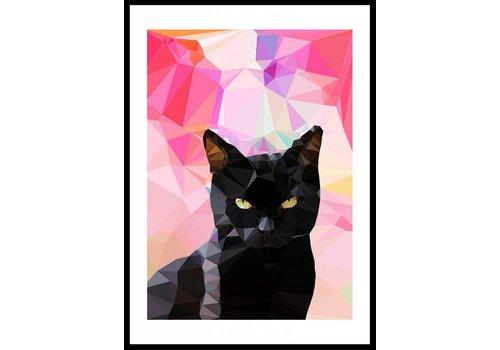 East End Prints Black Cat A3