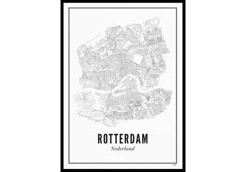 Wijck Poster A4 - Rotterdam stad