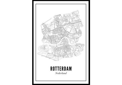 Wijck Poster Rotterdam stad 50x70