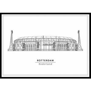 Cityprints Stadion 30x40cm