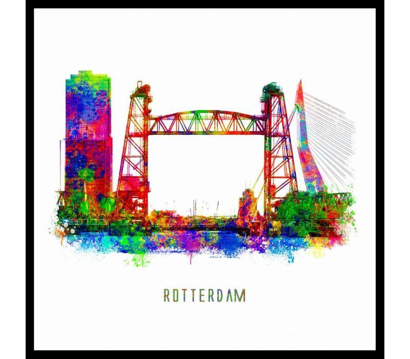 Rotterdam poster | De Hef | Pop art poster | 30x30