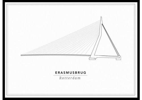 Cityprints Erasmusbrug 30x40cm
