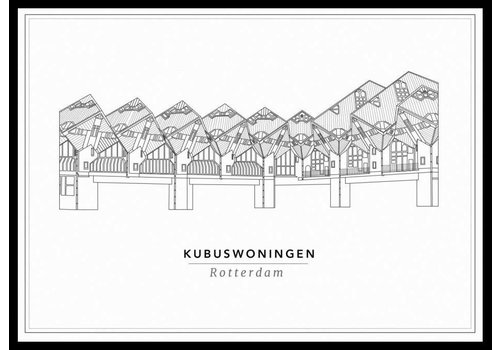 Cityprints Kubuswoningen 50x70cm