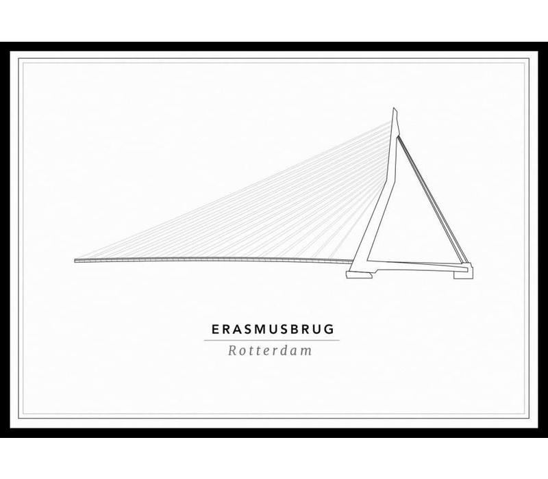 Erasmusbrug 50x70cm