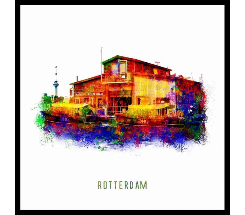 Rotterdam poster   Watertaxi   Pop art poster   30x30