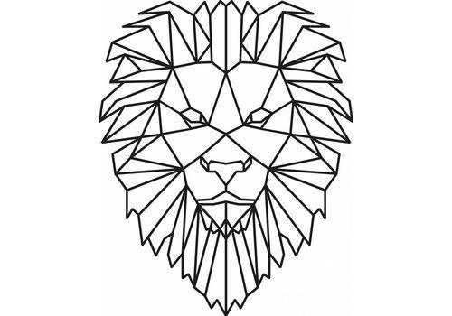 Cityshapes Leeuw 40cm zwart mdf