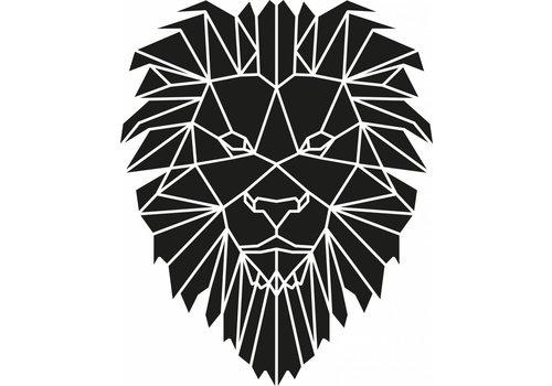 Cityshapes Leeuw mozaïek 40cm zwart mdf