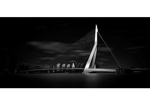 Christian Grass Erasmusbrug Zwart wit | Rotterdam skyline