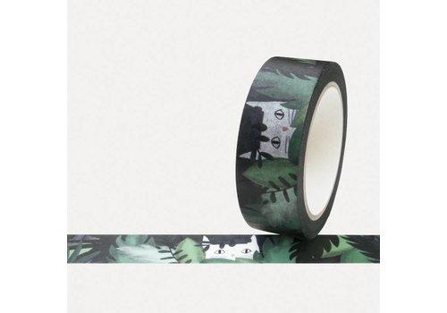 Washi tape jungle cat