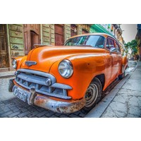 Orange Cuba Car