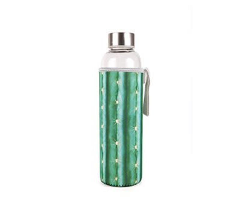 Glass bottle-cactus
