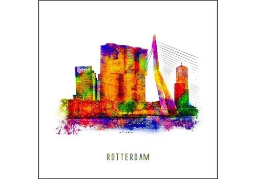 Ben Kleyn De Rotterdam - Pop art poster 30x30
