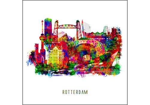 Rotterdam collage - Pop art poster 30x30