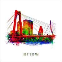 Rotterdam poster | Willemsbrug | Pop art poster | 30x30