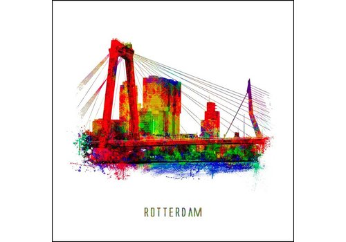 Beezonder Willemsbrug - Pop art poster 30x30