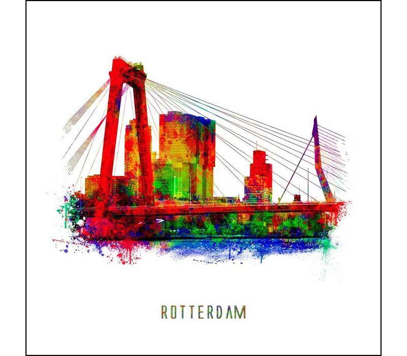 Willemsbrug - Pop art poster 30x30
