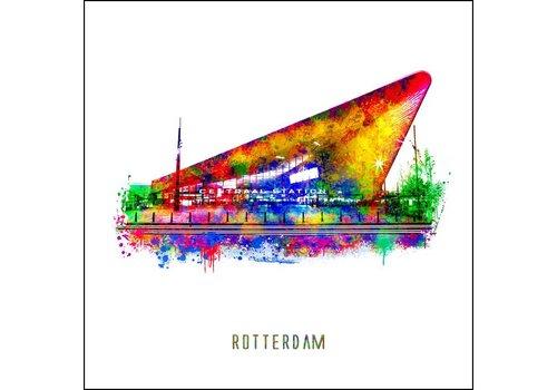 Ben Kleyn Rotterdam poster | Centraal Station | Pop art poster | 30x30