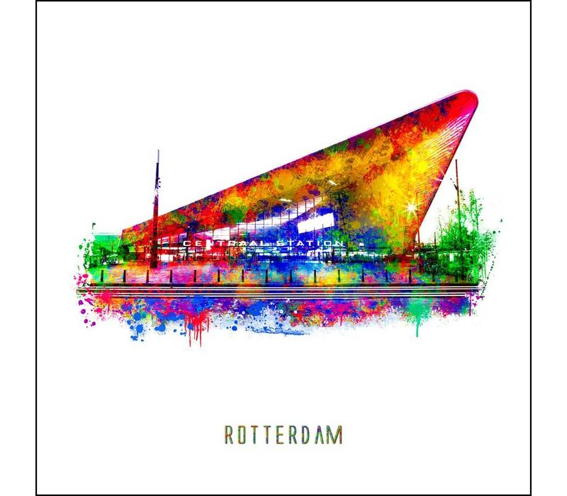 Rotterdam poster | Centraal Station | Pop art poster | 30x30