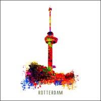 Rotterdam poster | Euromast | Pop art poster | 30x30
