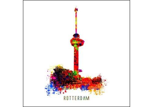 Ben Kleyn Rotterdam poster | Euromast | Pop art poster | 30x30